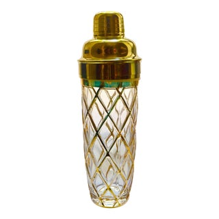Joseph Altuzarra Brass & Glass Cocktail Shaker