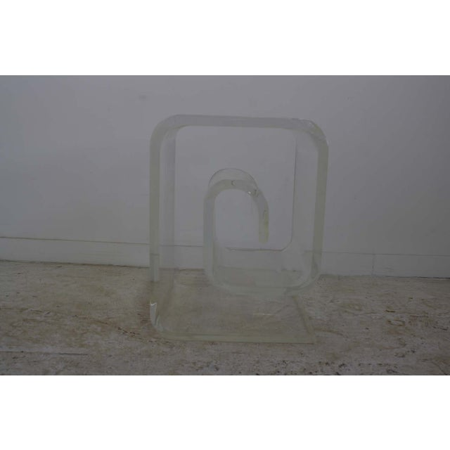 Lucite Spiral Side Table - Image 2 of 10