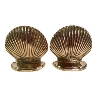 Vintage Clam Shell Bookends - a Pair