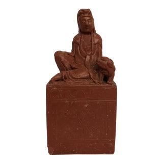 Antique Chinese Cinnabar Statue