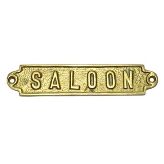 "Brass ""Saloon"" Plaque"