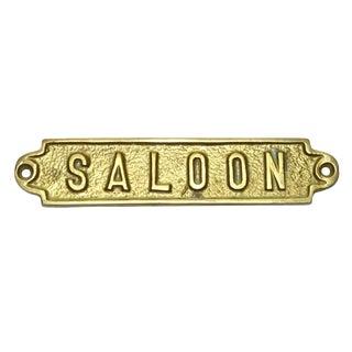 "Brass ""Saloon"" Plaque"