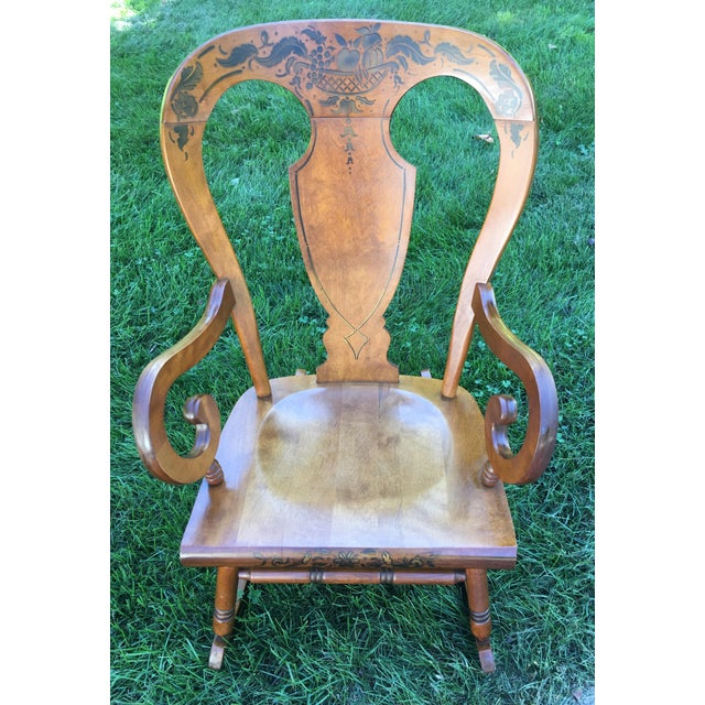 Tell City Balloon Back Rocking Chair - Image 8 of 8