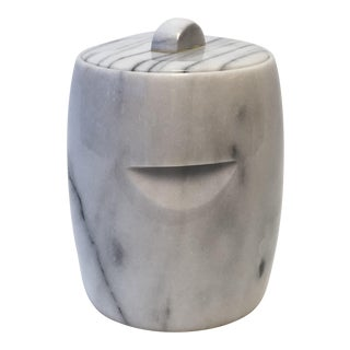 George Briard Carrara Marble Ice Bucket