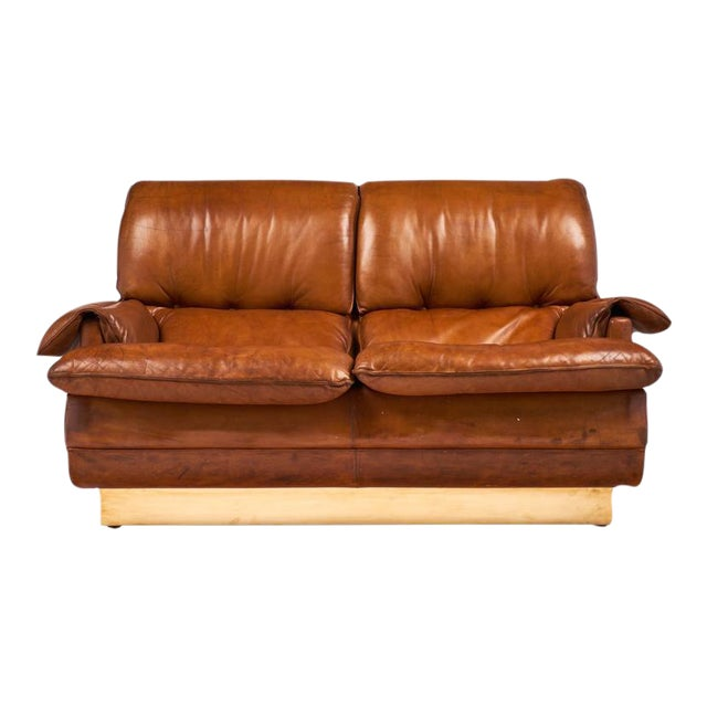 Modernist French Leather and Brass Sofa - Image 1 of 11