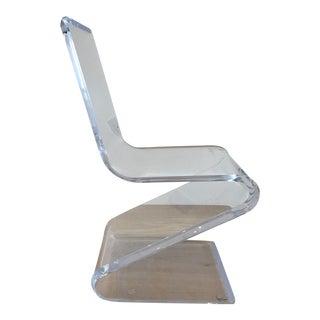 Lucite Zig Zag Chair
