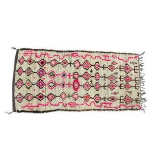 Pink Atlas' Moroccan Azilal Rug - 4′2″ × 8′10″