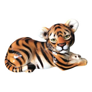 Italian Ceramic Tiger Figure