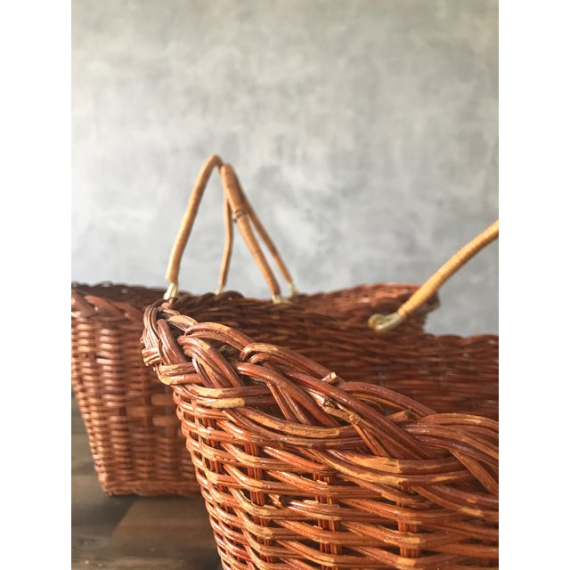 Rattan Carrying Baskets - A Pair - Image 7 of 7