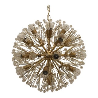 Emil Stejnar Brass Sputnik Blowball Chandelier for Nikoll Mfg
