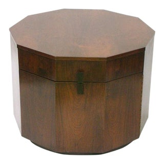Harvey Probber Rosewood Decagon Lamp Table