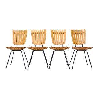 Arthur Umanoff Raymor Mid-Century Slat Chairs, Set/4