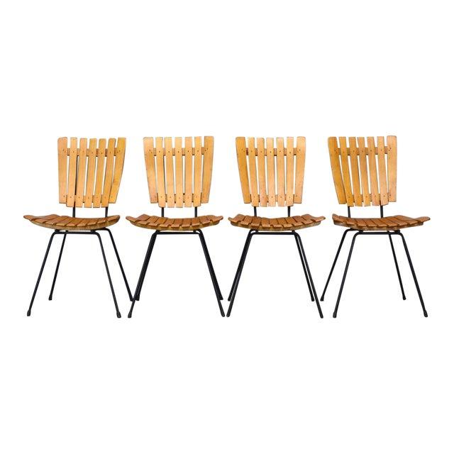 Arthur Umanoff Raymor Mid-Century Slat Chairs, Set/4 - Image 1 of 9