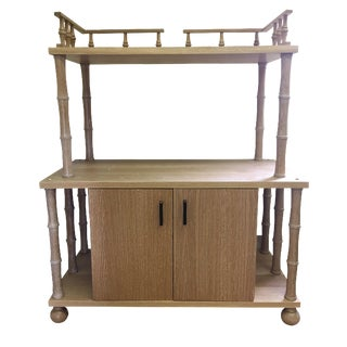 Cerused Oak Bamboo-Style Cabinet