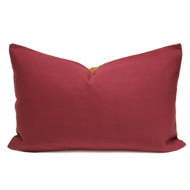 Ceremonial Bagh Phulkari Lumbar Pillow - Image 2 of 3