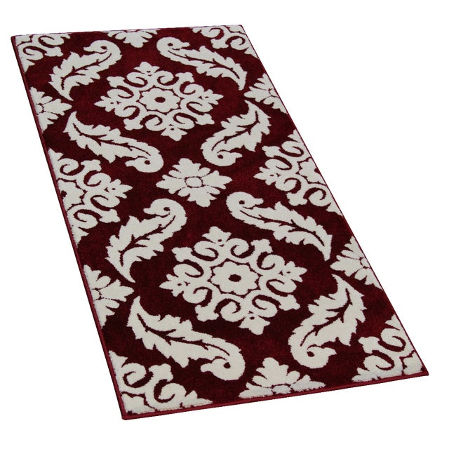 Transitional Red Trellis Rug - 3′ × 5′ - Image 1 of 4