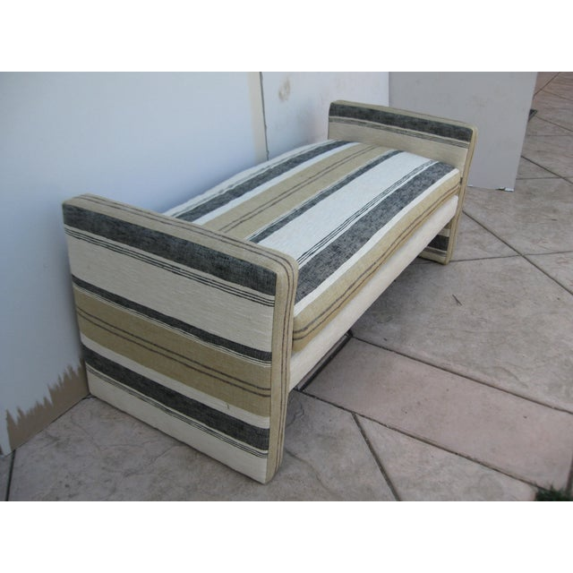 Image of Hand-Loomed Upholstered Bench