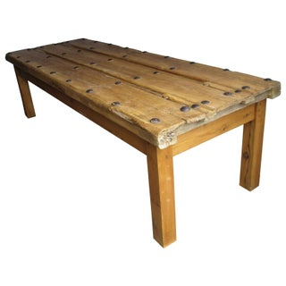 Antique Spanish Door Coffee Table