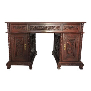 Ornate Chinese Rosewood Desk