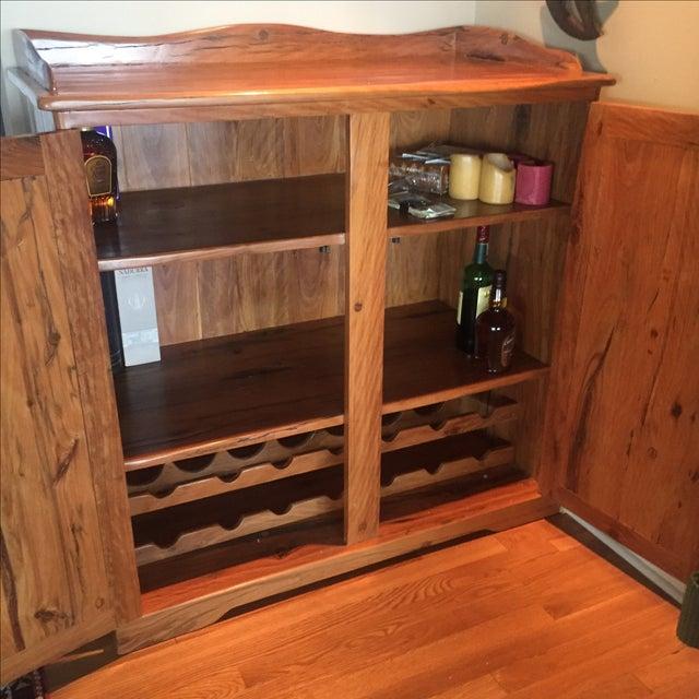 Image of Yellow Jarrah Railroads Cabinet/Wine Rack