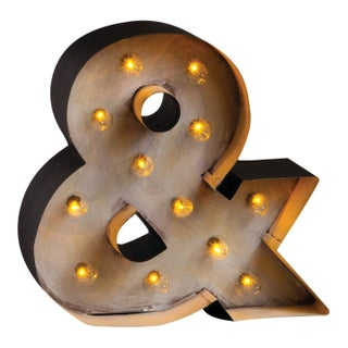 Large Retro Light Up Marquee Ampersand Sign