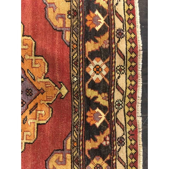 "Bellwether Rugs Vintage Turkish Oushak Runner - 5'8""x9'1"" - Image 9 of 10"