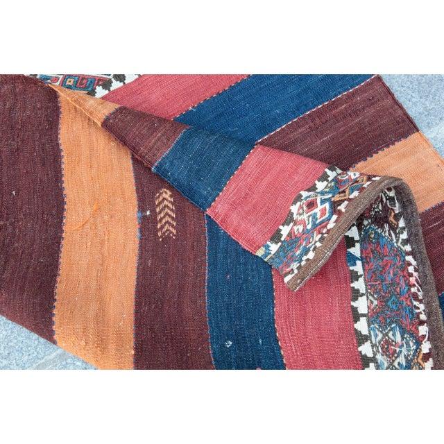 Fantastic Color Antique Turkish Malatya Kilim Rug - 6' 3'' x 3' 3'' - Image 10 of 10
