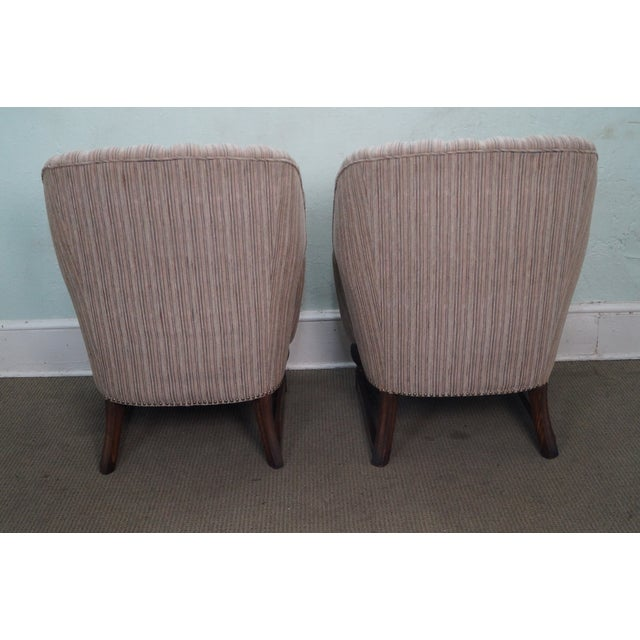 Feudal Oak Jamestown Wing Chairs - A Pair - Image 4 of 10