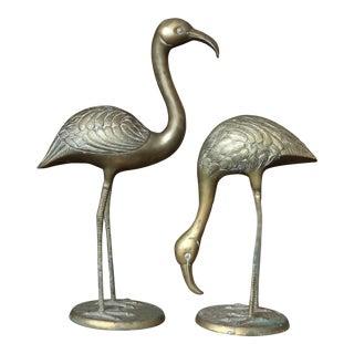 Brass Bird Statues - A Pair