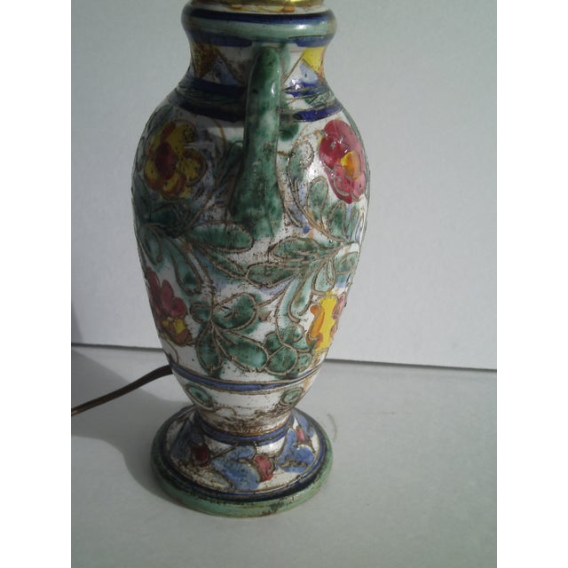 Early Mid-Century Italian Pottery Lamp - Image 6 of 9