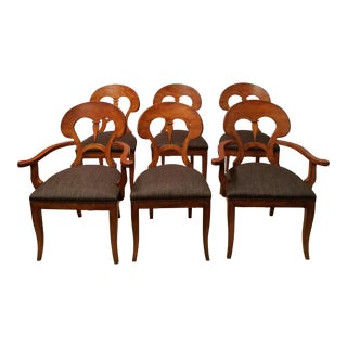 Biedermeier Style Fruitwood Dining Chairs - Set of 6