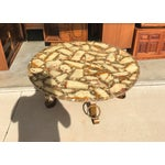 Image of Mid-Century Onyx Abalone Coffee Table