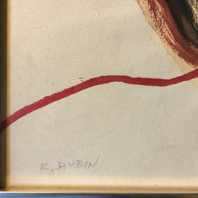 Image of Ralph Dubin Vintage Watercolor Painting