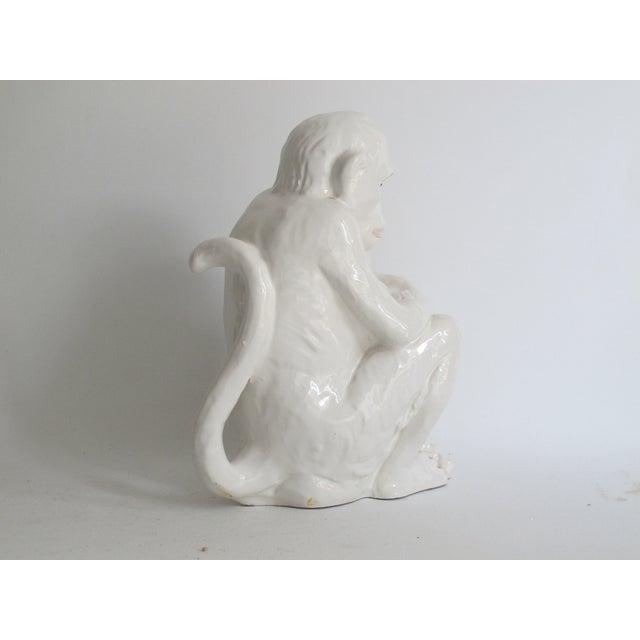 Italian Ceramic Monkey with Baby - Image 6 of 8