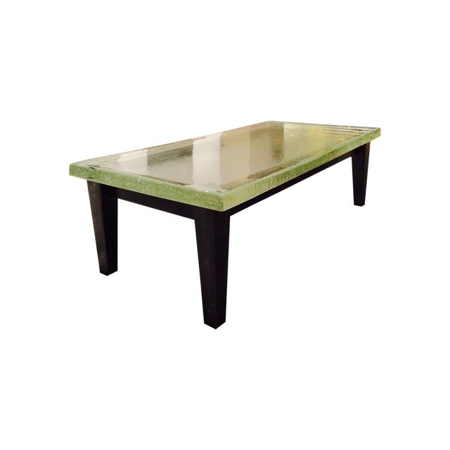 Famed Artisan Cast Glass Coffee Table Chairish