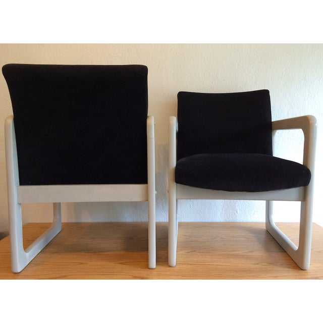 Mid-Century Black Arm Chairs - Image 7 of 7