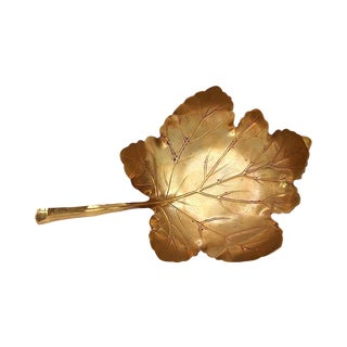 Vintage Brass Leaf Dish - Apollo Studios New York - Vintage Brass Decor