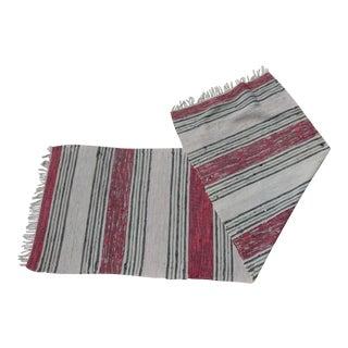 "Swedish Vintage Handwoven Rag Rug -- 2'4"" x 7'1"""