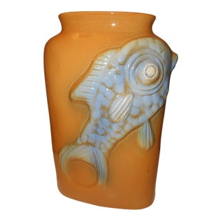 Chinese Koi Fish Vase
