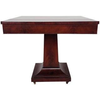 Square Parlor Table With Pedestal Base