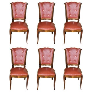 French Art Deco Designer Dining Chairs - Set of 6