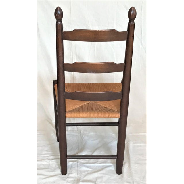 french country american primitive ladder back rush seat