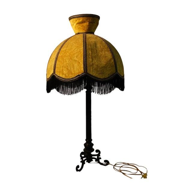 Image of Gold Scalloped Fringe Lamp