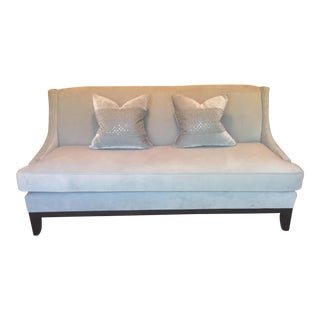 Original Custom Tiffany Blue Z Gallerie Sofa