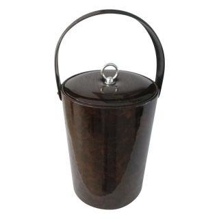 Georges Briard Faux Tortoise Design Ice Bucket