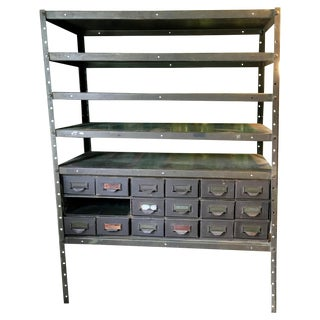 Industrial Utility Storage Vintage Shelving