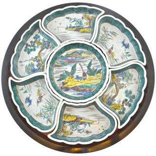 Chinoiserie Turntable Appetizer Set, 8 Pieces