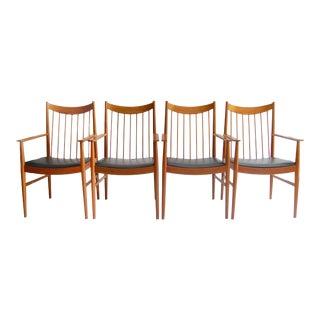 Arne Vodder for Sibast Danish Modern Teak Arm Chairs - Set of 4