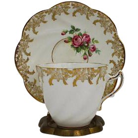 Royal Taunton Teacup & Saucer - A Pair