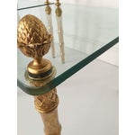 Image of Faux Bamboo Pineapple Gilt Side Tables - A Pair